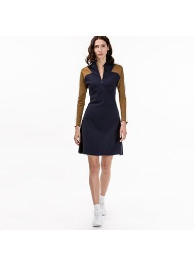 Uzun Kollu Yaka Detaylı Kısa Elbise-Lacoste